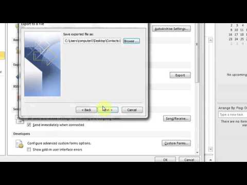 How to Transfer Contacts From Outlook to an External Hard Drive : PC Know-How