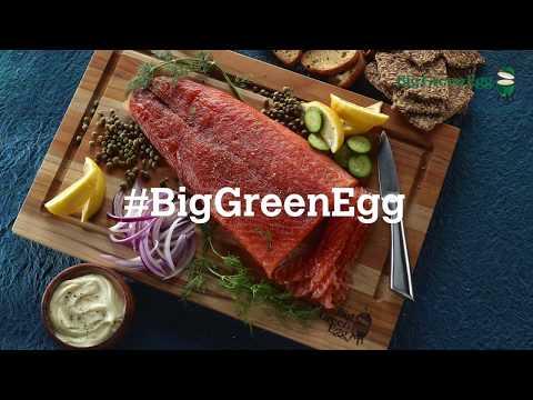 Cold Smoked Bourbon Glazed Salmon on a Big Green Egg