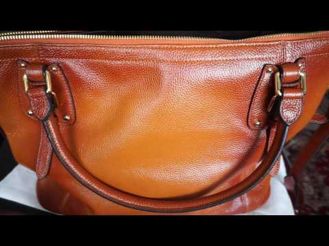 S-ZONE Genuine Leather Tote Shoulder Bag Review