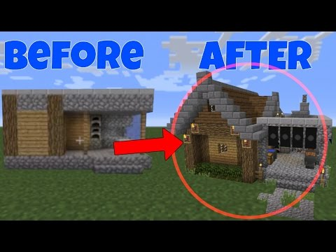 Minecraft: How to Remodel A Village Blacksmith -- part 2