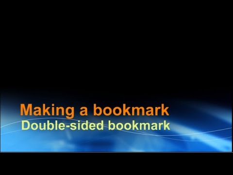 Making a double sided bookmark using Word