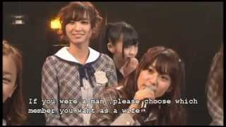 AKB48 No 1 member you want as a wife (eng sub)