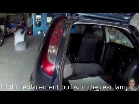 Opel Corsa C (2000–2006) How to replace rear tai light