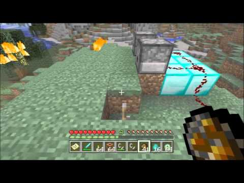 Minecraft Xbox 360 - Fire Charge Tutorial / Guide (Fire Charge vs Flint and Steel)