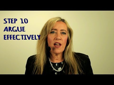 How to Argue Effectively. Strategies for relationships by marriage counsellor