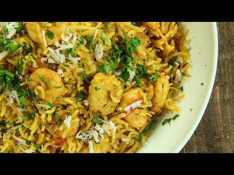 Prawns Pulao Recipe | How To Make Prawn Pulao | Shrimp Pulao | Jhinga Pulao | Recipe by Varun
