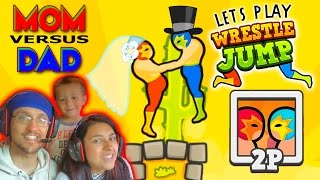 Lets Play WRESTLE JUMP! MOM vs. DAD : You May Now Wrestle The Bride! (FGTEEV Gameplay)