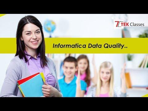 Informatica IDQ Tutorial | Informatica Data Quality