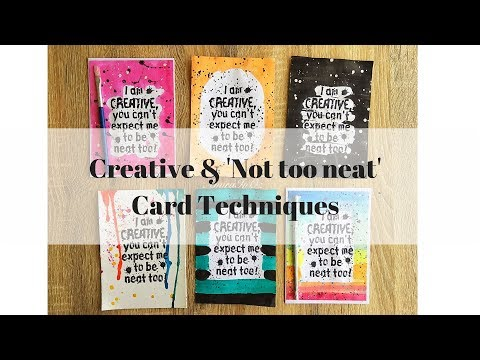 Creative and Not Too Neat ~ Darkroom door stamp & Watercolor Techniques
