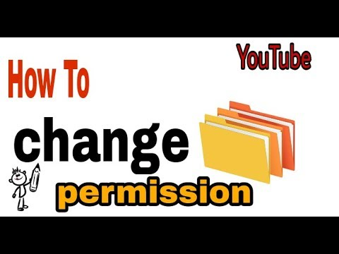 how to change permissions on network folder