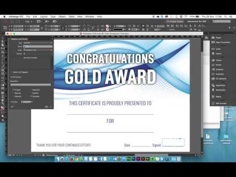 Create an editable PDF with formatted text fields in Adobe InDesign and Acrobat