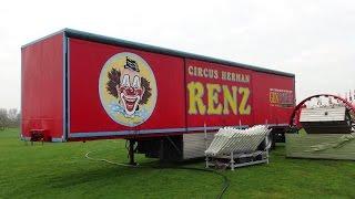 Circus Herman Renz 2016 Transport en opbouw Haarlem Deel 1