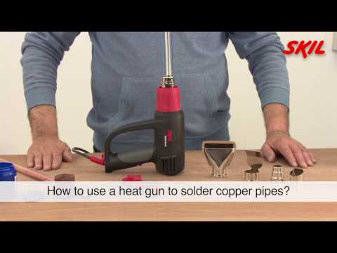 How to use a heat gun to solder copper pipes?