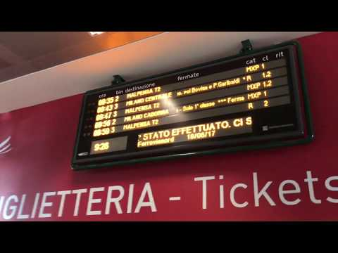 Malpensa Airport - Direction to Train Station