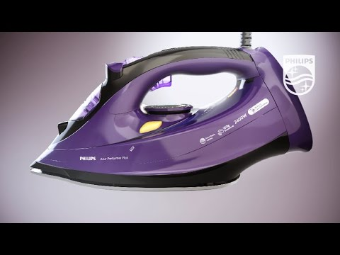 How to clean your steam iron with Built-in Calc Container | Philips | Steam iron | GC4928