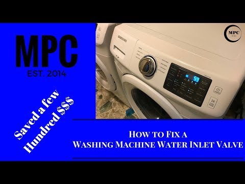 How to Fix a Washing Machine Water Inlet Valve