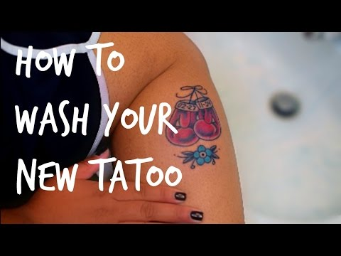 HOW TO: Wash Your New Tattoo || V E G A N