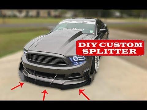 DIY Custom Front Mustang Splitter (How to make your own front splitter)