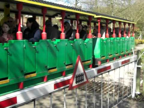 Lego Train Level Crossing at Legoland Windsor, UK