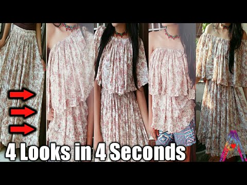 Beat the heat| Convert old skirt to stylish dress just in few mins DIY get 4 looks from 1 old skirt