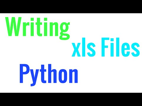 How to write .xls (Excel) files in Python - Tutorial