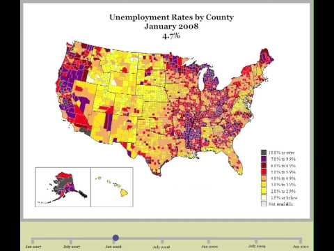 Unemployment rate growth from June 07 to Present day