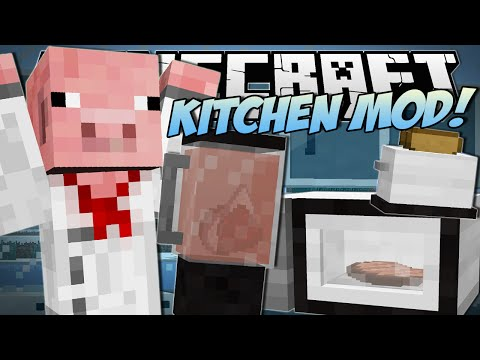 Minecraft | KITCHEN MOD (Blenders, Microwaves & More!) | Mod Showcase