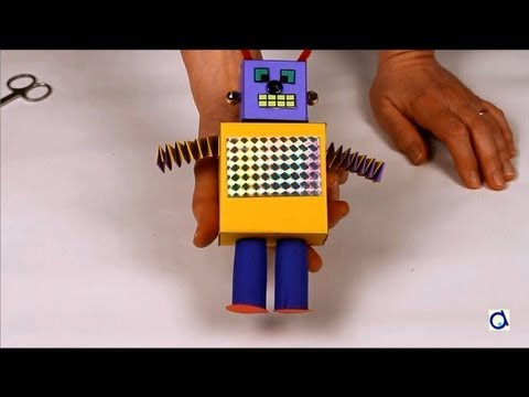 How to make a paper robot