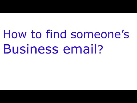 How to find someone's business email?