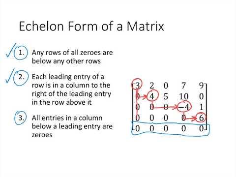 Linear Algebra - Lecture 3 - Echelon Form
