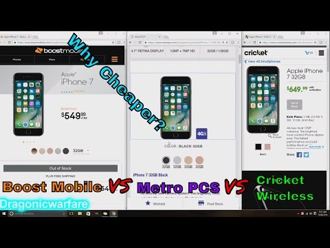 Why the IPhone 7 and 7 Plus is Cheaper on Boost  Mobile Vs Others (HD)
