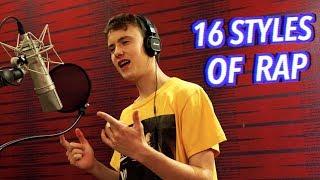 16 Styles of Rapping! (J Cole, Mac Miller, Lil Peep, Eminem)
