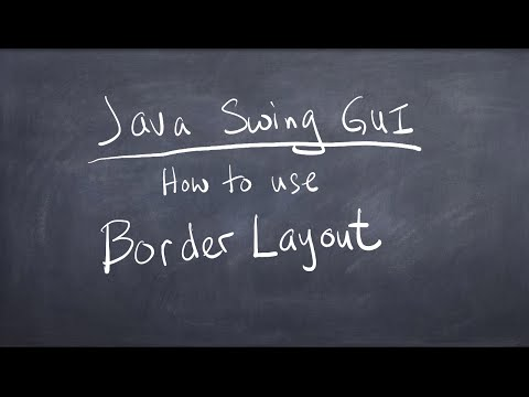Java Swing GUI - How to use Border Layout