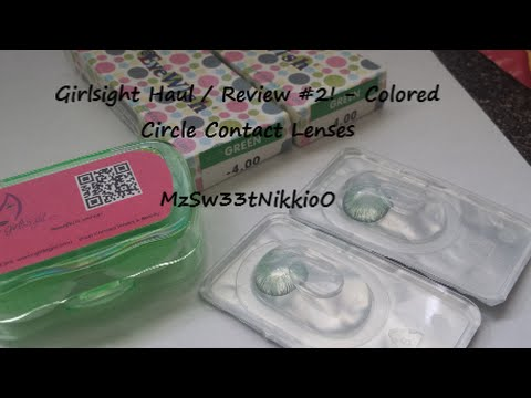 Girlsight haul/review #2 [Colored Circle Lenses contacts!!]