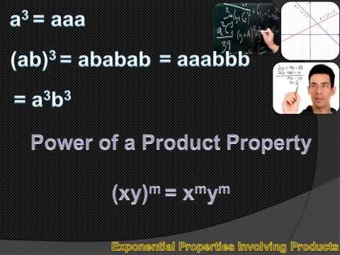 Algebra 1 - Exponential Properties Involving Products