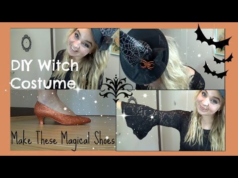 DIY Witch Costume: Make Your Own Glitter Shoes!