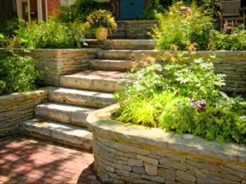 Small Home terraced garden ideas
