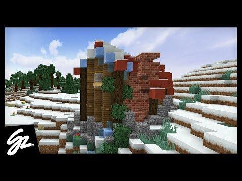 BUILDING A SNOW COTTAGE! - Minecraft - #101
