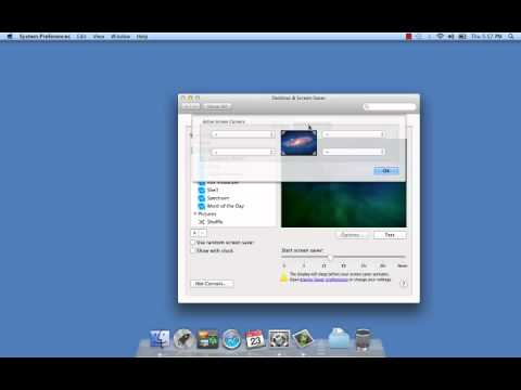 Mac OS X - How to Enable a Screensaver Password