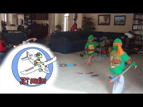 FOR KIDS - how to make ninja turtle weapons - JET Studios