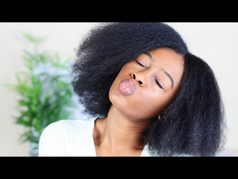 Blowout on EXTREMELY THICK Natural Hair