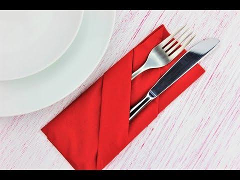 How to fold napkin into a pocket - Fast & Easy Tutorial - DIY