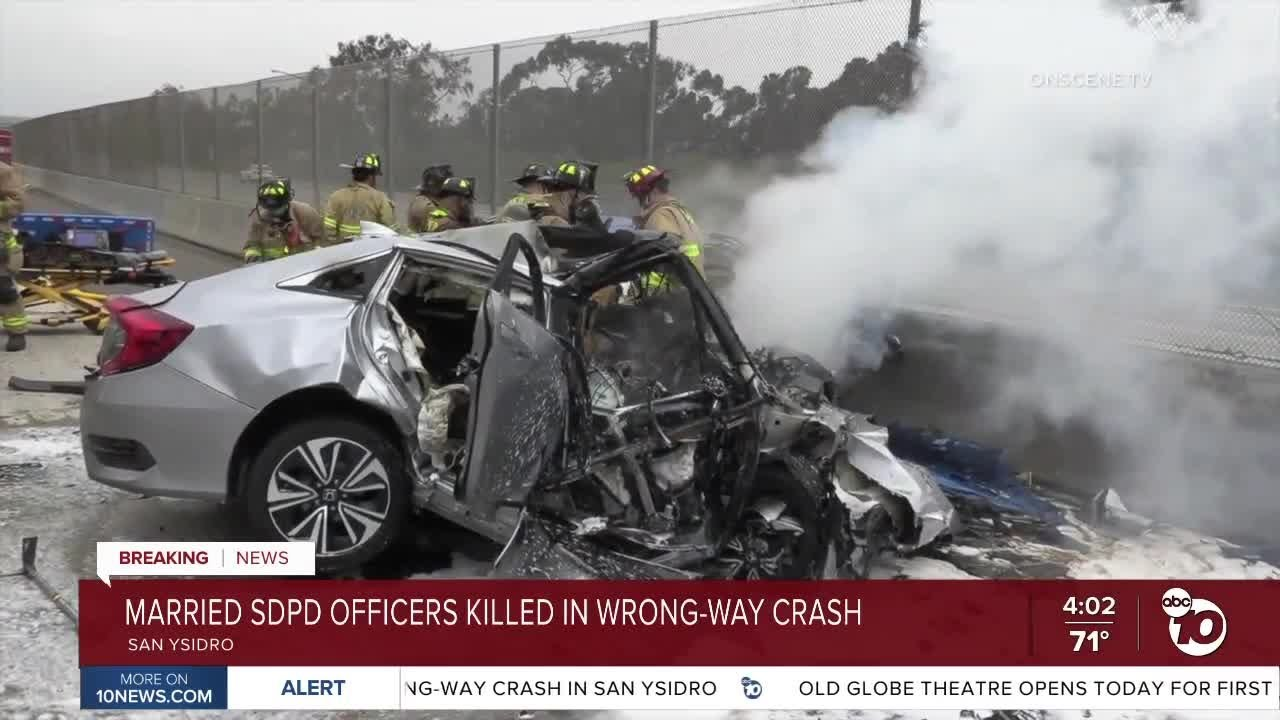 Married SDPD officers killed in wrong-way crash