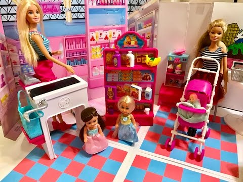 Barbie Doll Grocery Store Market Playset!!