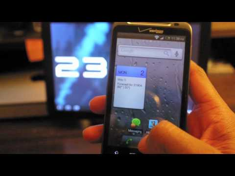 My HTC Thunderbolt Part 1: Widget Locker, Go Contacts and Font Changer