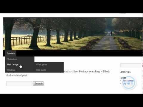 How to create Drop down menu in Wordpress | Fast & Easy