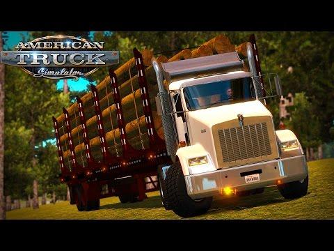 American Truck Simulator: T800 Logging Truck - Vancouver BC to Seattle WA