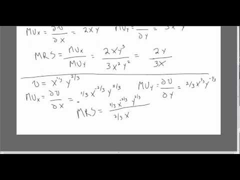 Consumer Utility, Marginal Utility, and Marginal Rate of Substitution