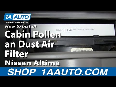 How To Install Replace Change Cabin Pollen an Dust Air Filter 2002-06 Nissan Altima