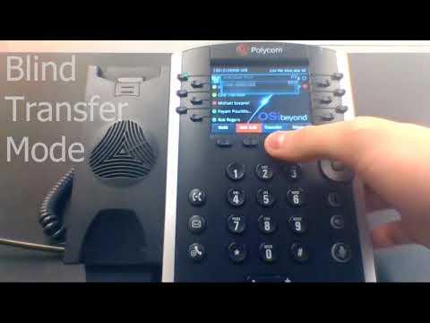 04 - Performing a Skype for Business Call Transfer Using a Polycom Desk Phone